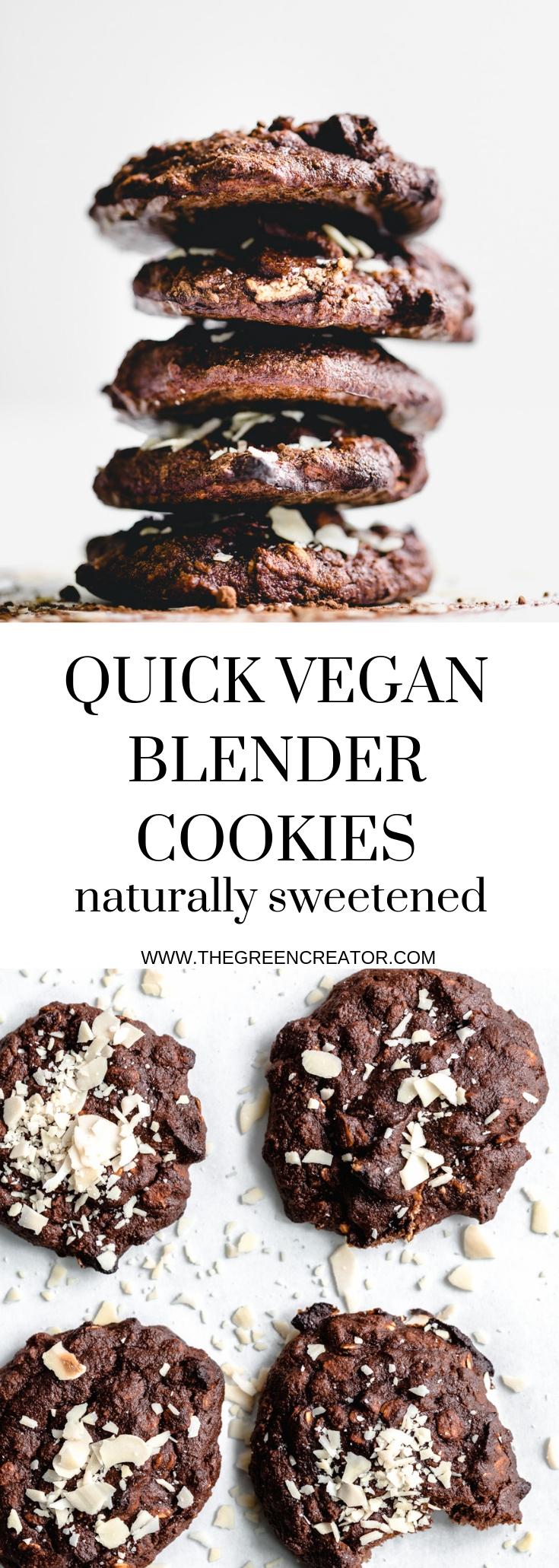 Quick Blender Chocolate Cookies