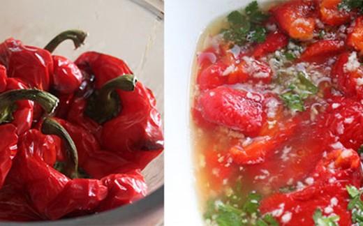 roasted paprikas