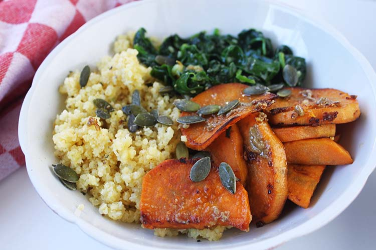 Simple Sweet Potato Fall Bowl