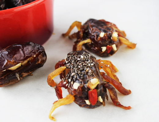 3-Ingredient Halloween Spider Dates