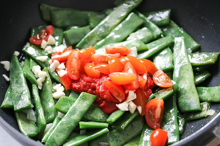 snijbonen in tomatensaus