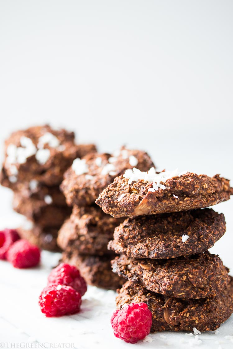 Raspberry Oats Cookies