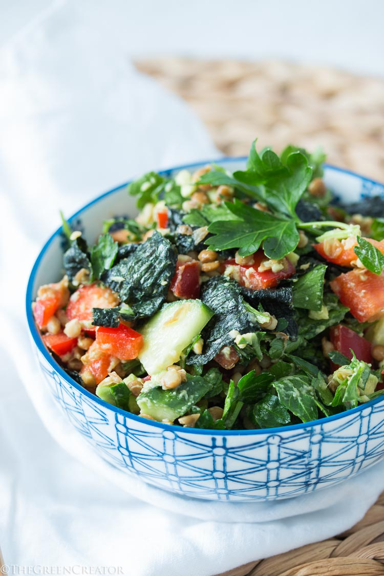 Herbal Lentil Nori Salad