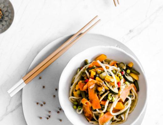Warm Veggie Noodle Bowl