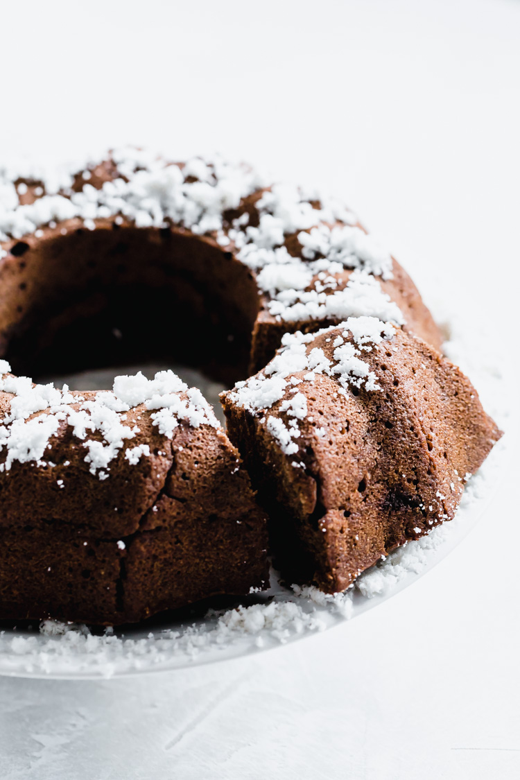Vegan Sweet Potato Chocolate Bundt Cake