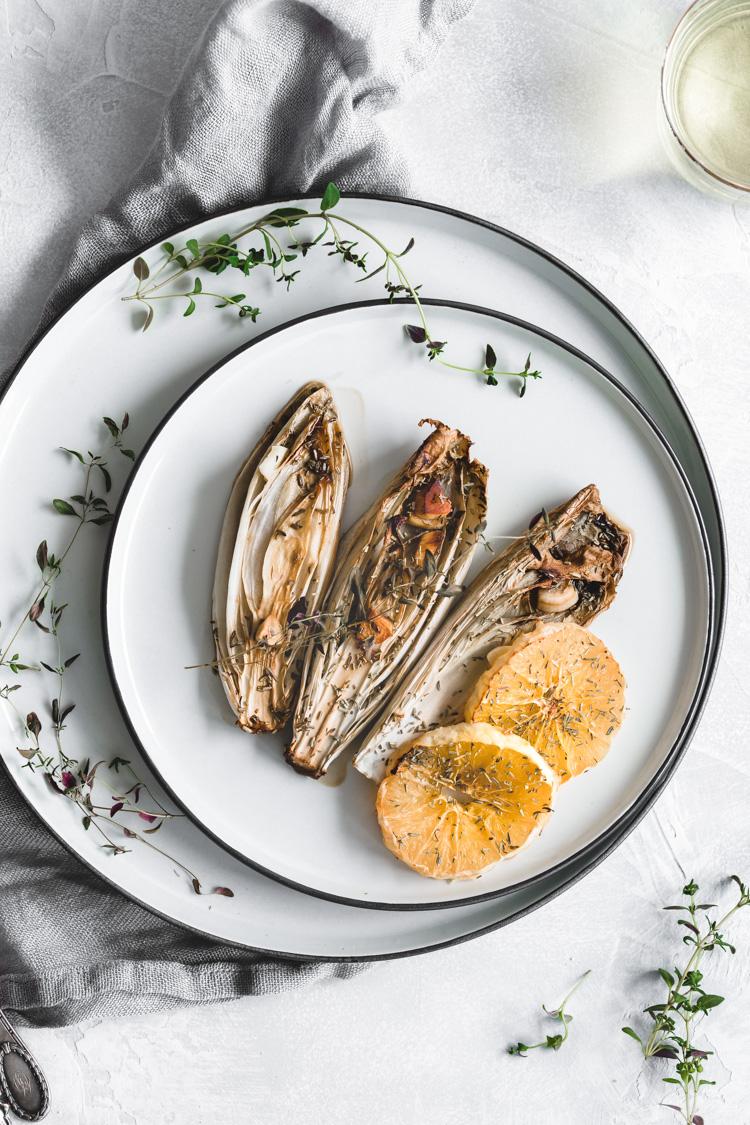 Roasted Endive with Orange and Garlic