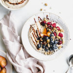 Raw Buckwheat Porridge with Plums